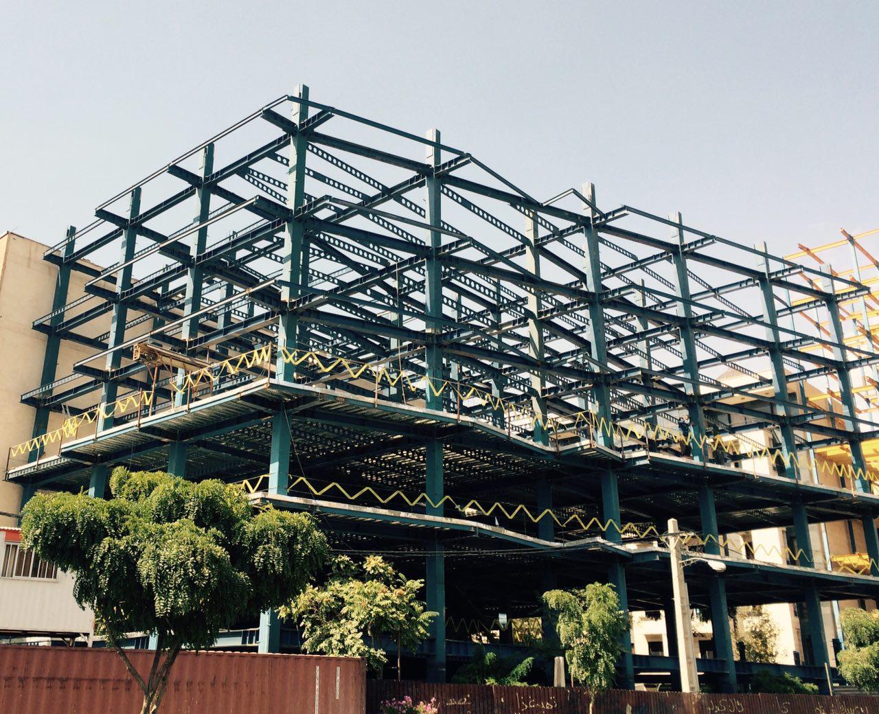 اسکلت فلزی تجاری مسکونی شهرک بنفشه کرج